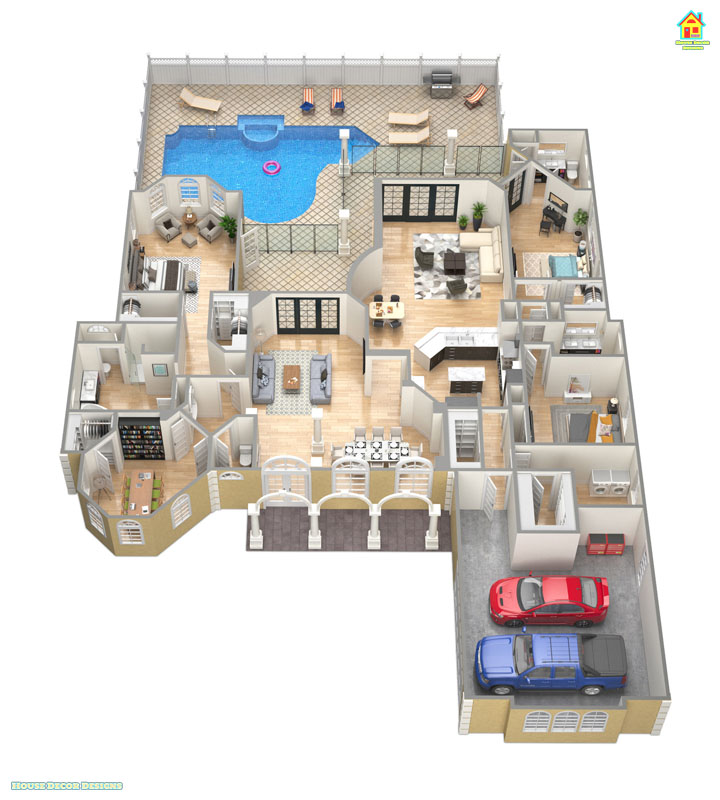 Awesome 3300 sqft 3D house plan